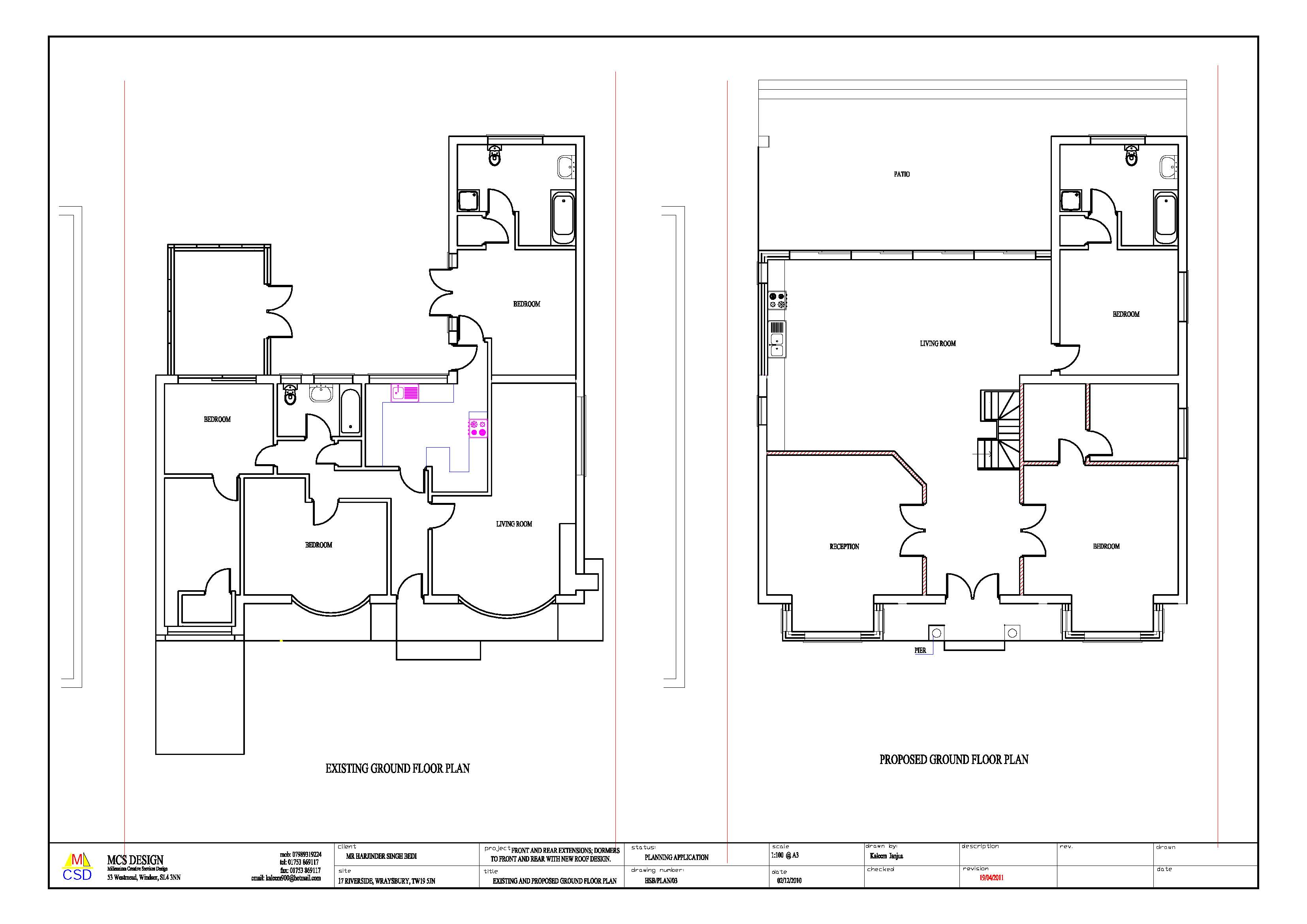 Portfolio m c s designs for Design my floor plan
